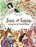 Foxes & Fairies coloring book by Meredith Dillman: 25 kimono, kitsune and fairy designs