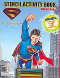 Superman Returns Stencil Activity Book