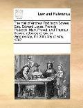 Trial of Andrew Robinson Bowes, Esq Edward Lucas, Francis Peacock, Mark Prevot, and Thomas B...