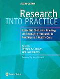 Research Into Practice Essential Skills For Reading And Applying Research In...