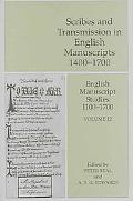 Scribes And Transmission in English Manuscripts 14001700