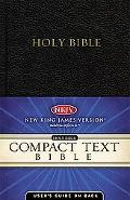 Compact Text Bible New King James Version Black Bonded Leather