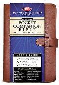 Holy Bible New King James Version, Companion, Tan, Bonded Leather, Slip tab