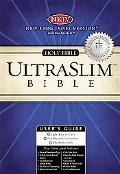 Holy Bible New King James Version, ultraslim, black, gilded gold, leather