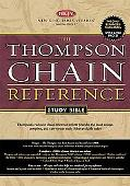 Holy Bible Thompson Chain Reference, Black, Indexed