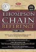 Thompson Chain Reference Study Bible New King James Version, Black Genuine Leather, Gilded G...