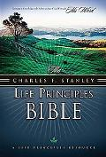 Charles Stanley Life Principles Bible New King James Version, Black Bonded Leather