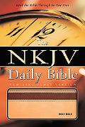 NKJV Daily Bible: Read the Entire Bible in One Year - Nelson Bibles - Paperback - Tan/Mahoga...
