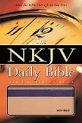 Daily Bible New King James Version, Tan/purple