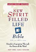Large Print New Spirit-Filled Life Bible: Kingdom Equipping through the Power of the Word - ...