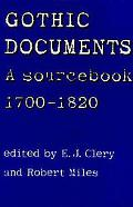 Gothic Documents A Sourcebook 1700-1820