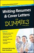 Writing Resumes and Cover Letters for Dummies : Australian and New Zealand Edition