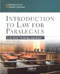 Introduction to Law for Paralegals A Critical Thinking Approach