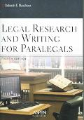 Legal Research+writing for Paralegals