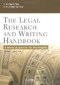 Legal Research And Writing Handbook A Basic Approach for Paralegals