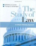 The Study Of Law: A Critical Thinking Approach