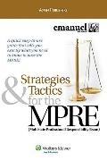 Strategies and Tactics for the MPRE, 2009 Edition (Strategies & Tactics)