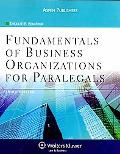 Fundamentals of Business Organizations for Paralegals 3rd Edition