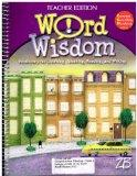 Word Wisdom Vocabulary for Listening,Speaking,Reading, and Writing (Teacher Edition, Grade 8...