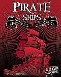 Pirate Ships Sailing the High Seas