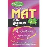 MAT -- The Best Test Preparation for the Miller Analogies Test: 5th Edition (Miller Analogie...