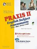 PRAXIS English Subject Assessment 0041,0042,0043,0048,0049: Content Knowledge w/CD (REA) - t...