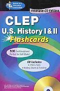 CLEP U.S. History I & II Flashcards with TestWare (REA)