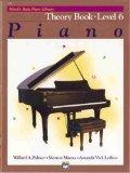 Alfred's Basic Piano Course, Theory Book 6 (Alfred's Basic Piano Library)