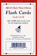 Alfred's Basic Piano Course Flash Cards: Levels 1a & 1b