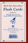 Alfred's Basic Piano Course Flash Cards: Levels 2 & 3