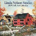 Linda Nelson Stocks Folk Art: 2009 Mini Wall Calendar