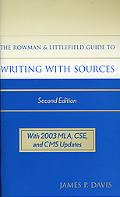 Rowman and Littlefield Guide to Writing With Sources Rowman and Littlefield Guide to Writing...