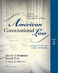 American Constitutional Law: Liberty, Community, and the Bill of Rights, Volume 2
