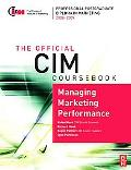 CIM Coursebook Managing Marketing Performance
