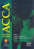 Acca Part 2 - 2.2: Corporate and Business Law: Study Text (2002) (ACCA Study Text)