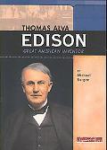 Thomas Alva Edison Great American Inventor