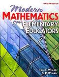 Modern Mathematics for Elementary Educators, 13th Edition