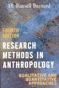 Research Methods in Anthropology Qualitative And Quantitative Approaches