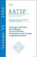 Language And Culture Out of Bounds Discipline-blurred Perspectives on the Foreign Language C...