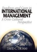 Readings and Cases in International Management A Cross-Cultural Perspective