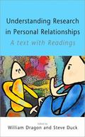 Understanding Research In Personal Relationships A Text With Readings