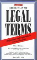 Dictionary of Legal Terms A Simplified Guide to the Language of Law