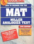 Barron's How to Prepare for the Mat Miller Analogies Test