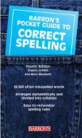 Barron's Pocket Guide to Correct Spelling