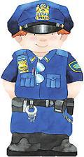 Police Officer (Mini People Shape Books Series)