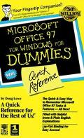 Microsoft Office 97 for Windows for Dummies Quick Reference