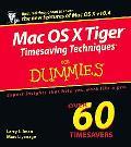 MAC OS X Tiger Timesaving Techniques for Dummies