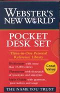 Webster's New World Pocket Desk Set Pocket Style Guide, Pocket Thesaurus, Pocket Dictionary,...