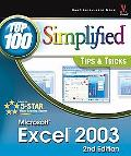 Microsoft Excel 2003 Top 100 Simplified Tips & Tricks