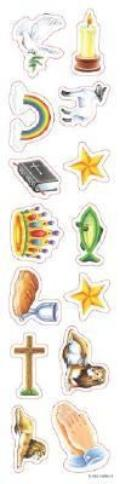 Christian Symbols Shapes Stickers - Christian Symbols